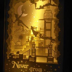 Disney Other Peter Pan Paper Cut Light Box3d Shadow Box